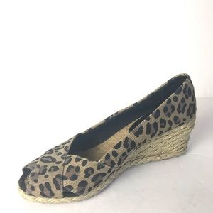 Lauren Ralph Lauren leopard print espadrille 7.5